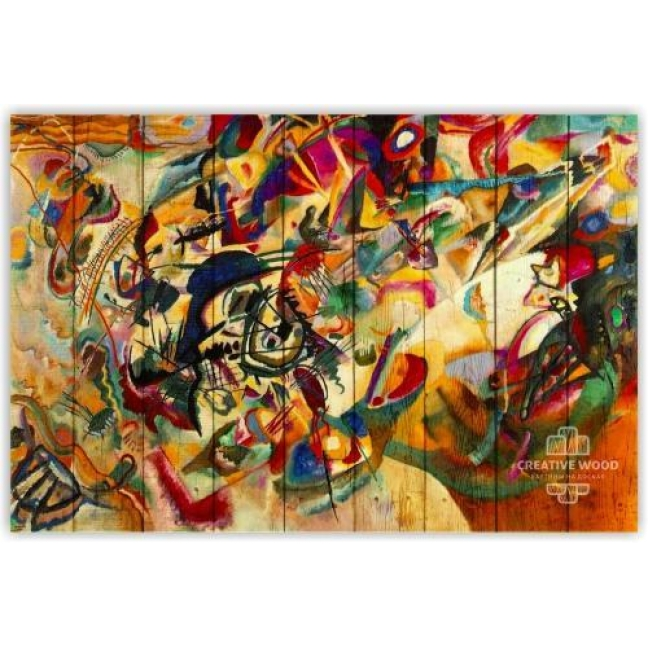 """Painting on boards Picture on the boards """"Abstraction - Issily Kandinsky"""""""