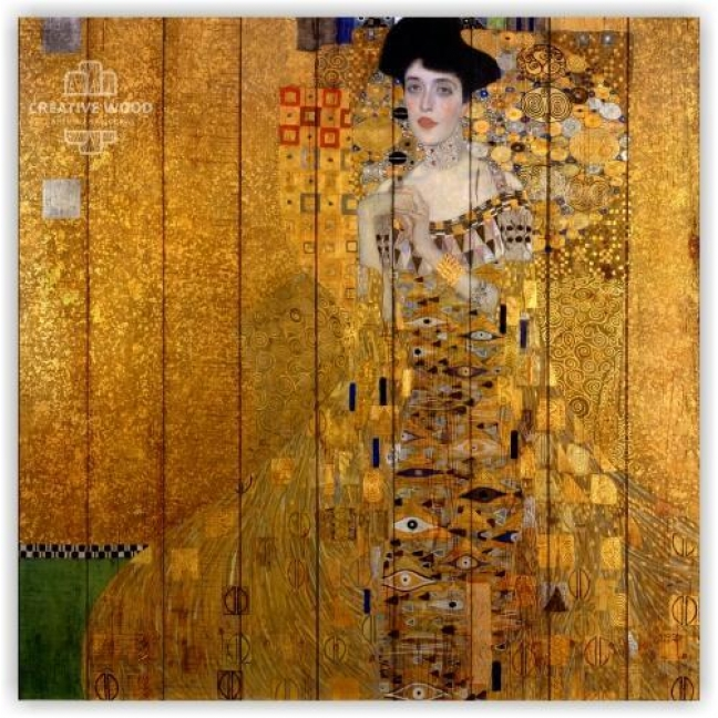 """Painting on boards Picture on the boards """"Adele - Gustav Klimt"""""""