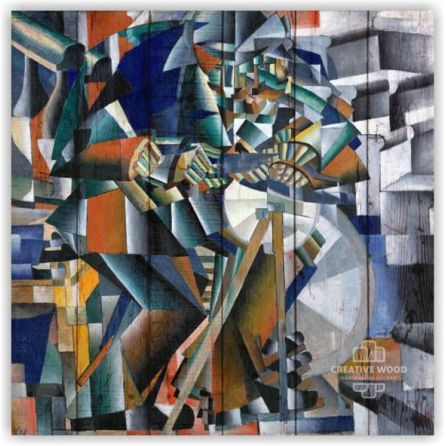 """Painting on boards Picture on the boards """"Grinder - K. Malevich"""""""