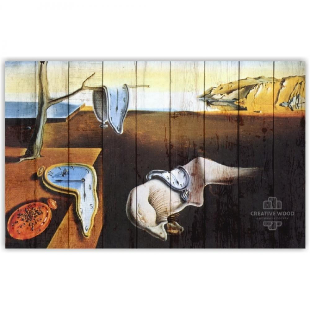 "Picture on the boards ""The Persistence of Memory - Salvador Dali"""