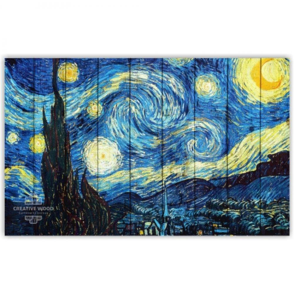 Picture on the boards The Star Night - Van Gogh
