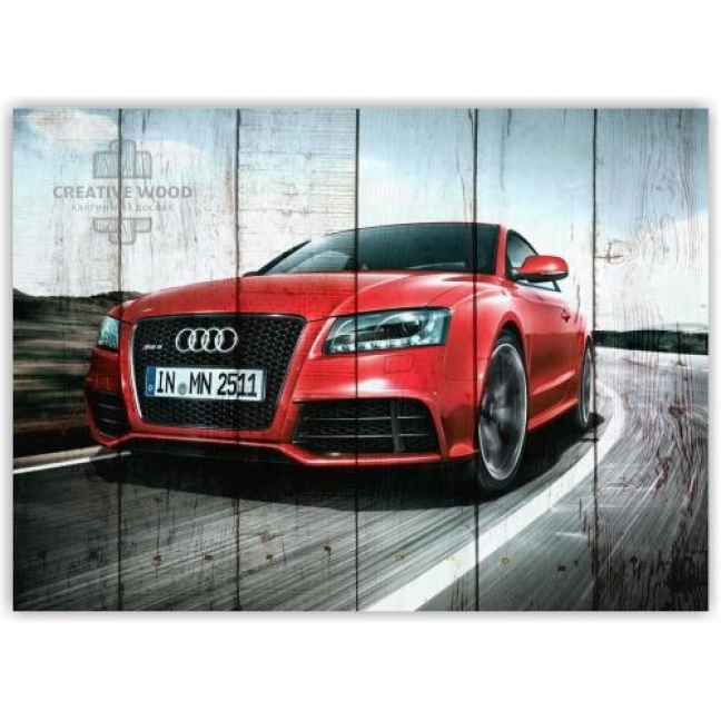 Painting on boards Pictures on the boards AUTO - Audi