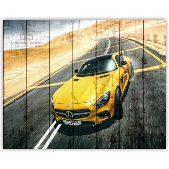 Painting on boards Pictures on the boards AUTO - Mercedes