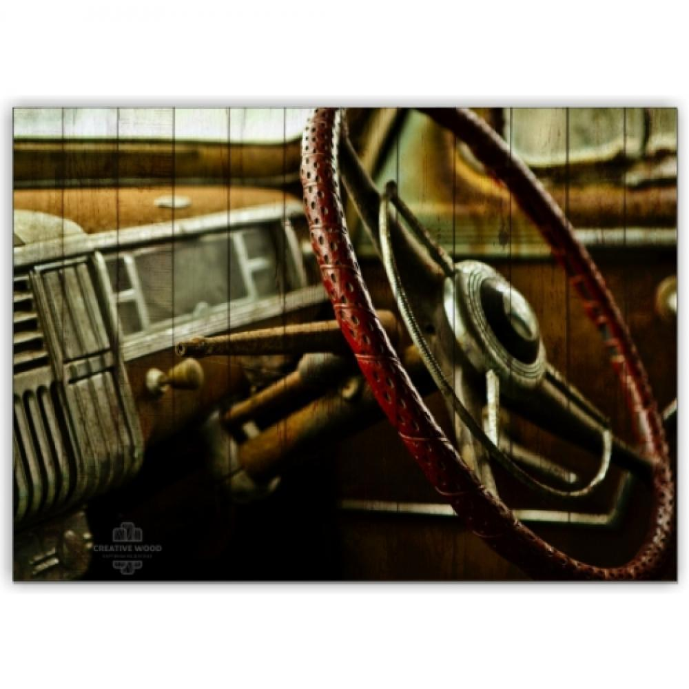 Picture on the boards - Retro steering wheel