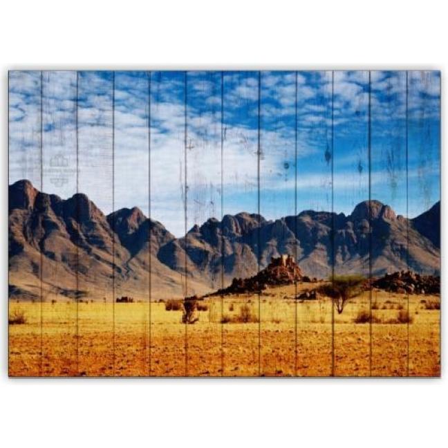 Painting on boards Africa - Desert