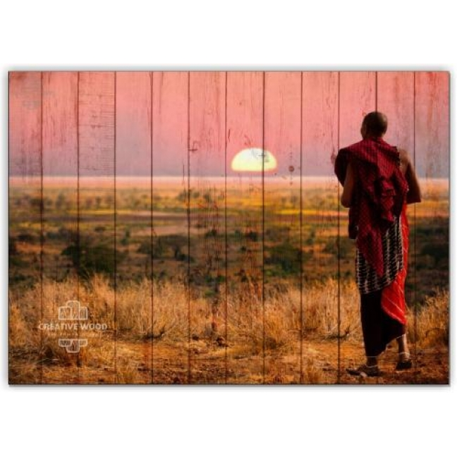 Painting on boards Africa - Tanzania