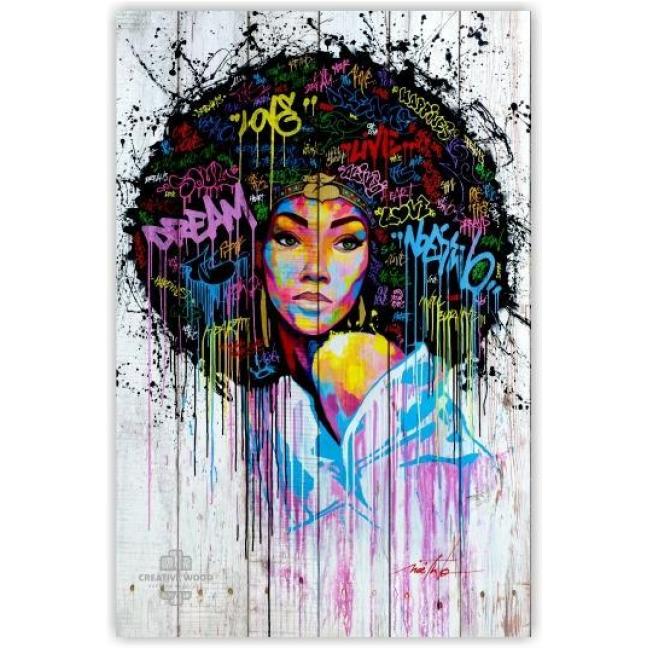 Painting on boards Girls - Graffiti