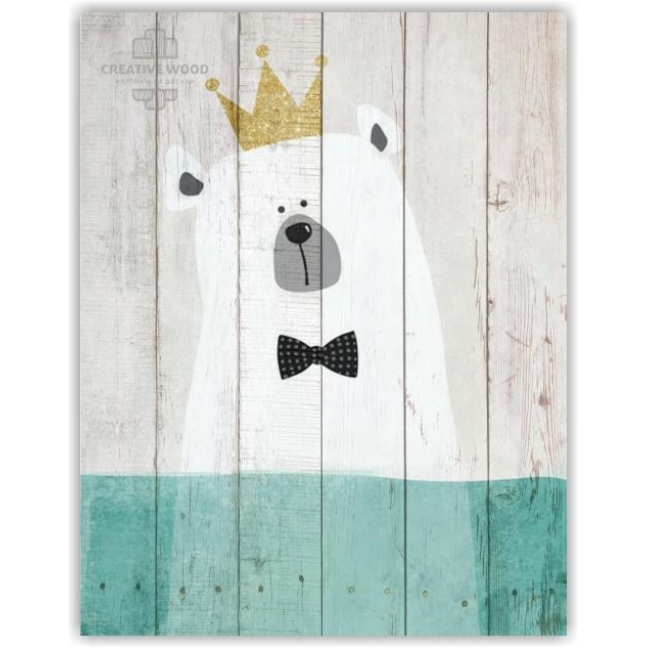 Painting on boards  KIDS - Bear with a crown