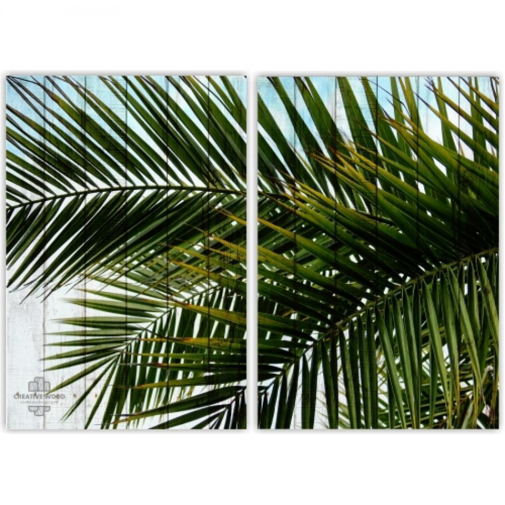 Модульные картины -  Пальма