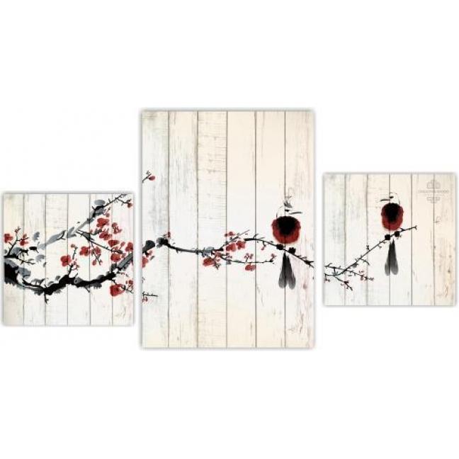 Painting on boards Modular pictures - Sakura