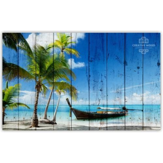 Painting on boards Sea - Palms