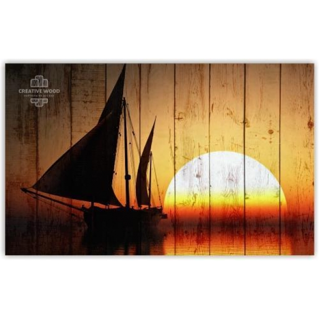 Painting on boards Sea - Sunset