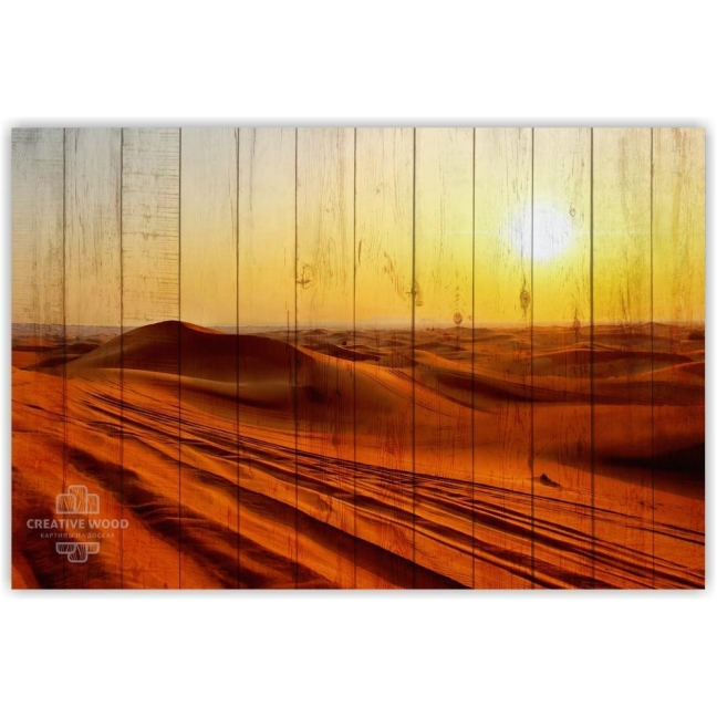 Painting on boards Nature - Sand dunes