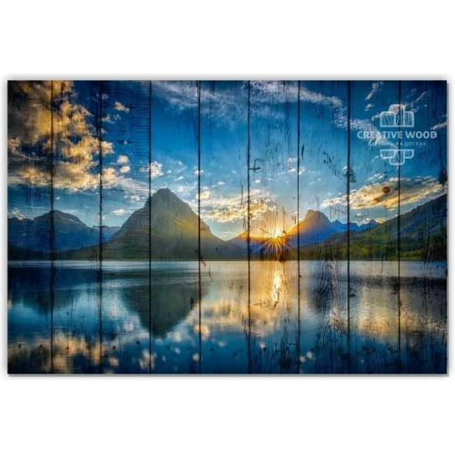 Painting on boards Nature - Mountains