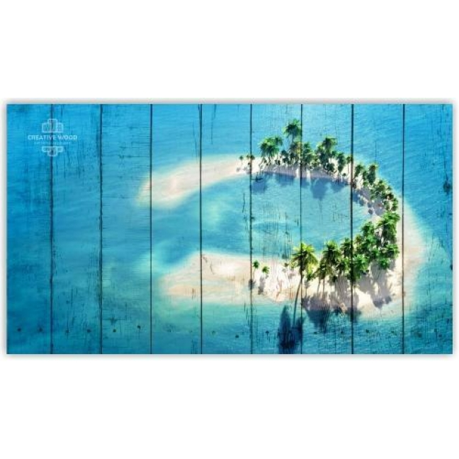 Painting on boards Nature - Maldives