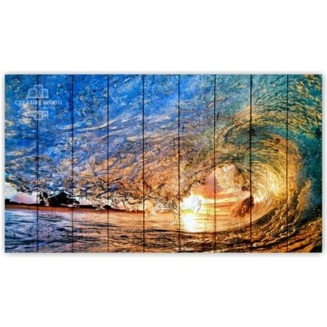 Painting on boards Nature - Wave