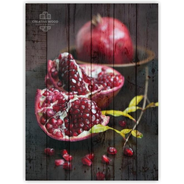 Painting on boards Sweets and spices - Pomegranate