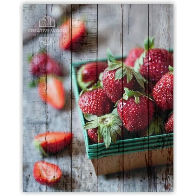 Painting on boards Sweets and spices - Strawberries