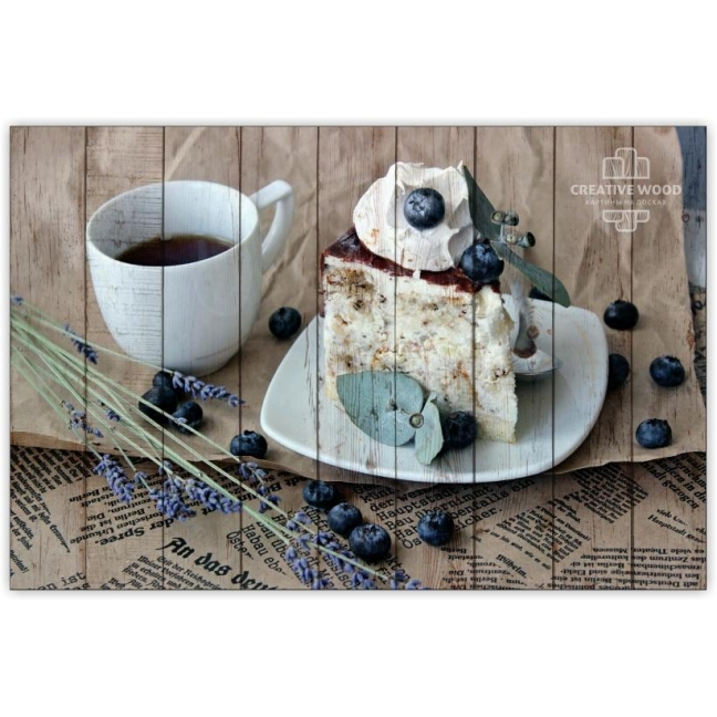 Painting on boards Sweets and spices - Blueberry cake