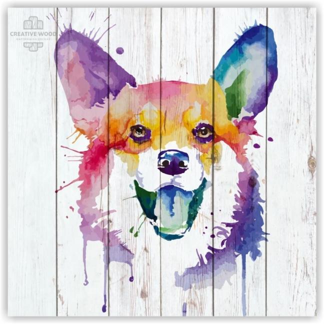 Painting on boards Vector Graphics - Corgi