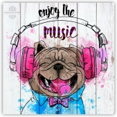 Vector graphics - Dog in headphones