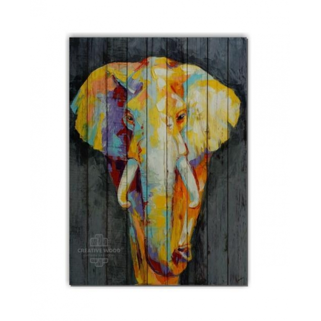 Painting on boards ZOO  — Elephant