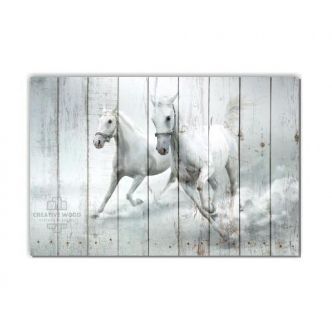 Painting on boards ZOO - Running Horses