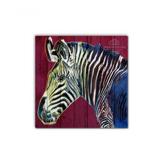 Painting on boards ZOO - Zebra art
