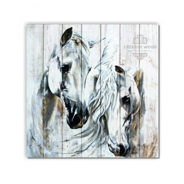 Painting on boards ZOO - The Horses of Art