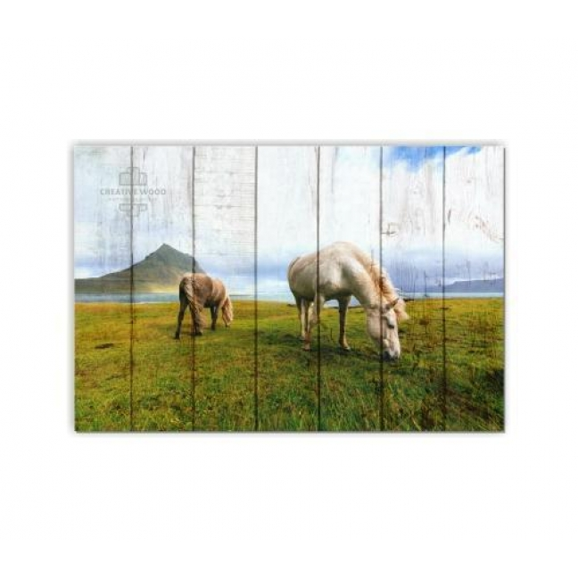 Painting on boards ZOO  — The Landscape with Horses