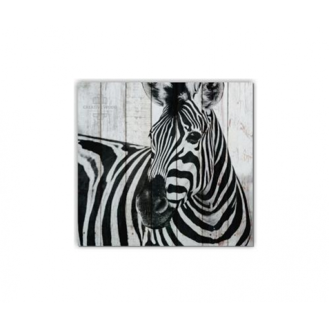Painting on boards ZOO  — Zebra