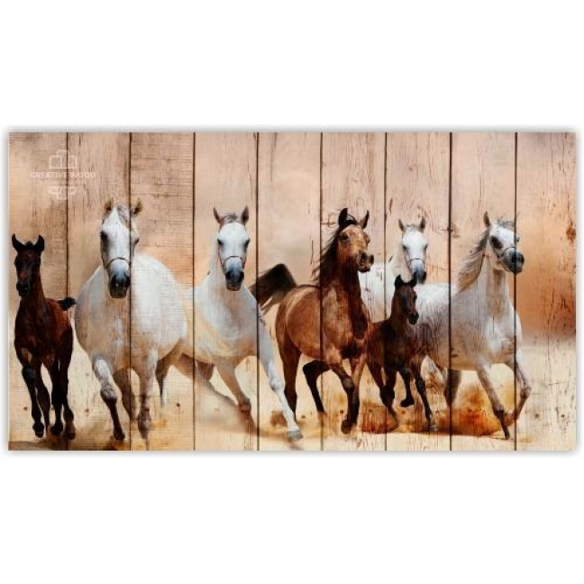 Painting on boards ZOO - Jumping Horses