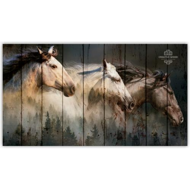 Painting on boards ZOO - The Three Horses