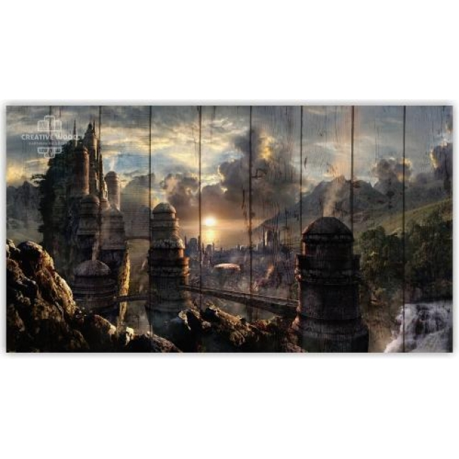 Painting on boards Fantasy - Towers
