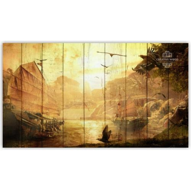 Painting on boards Fantasy - Ships