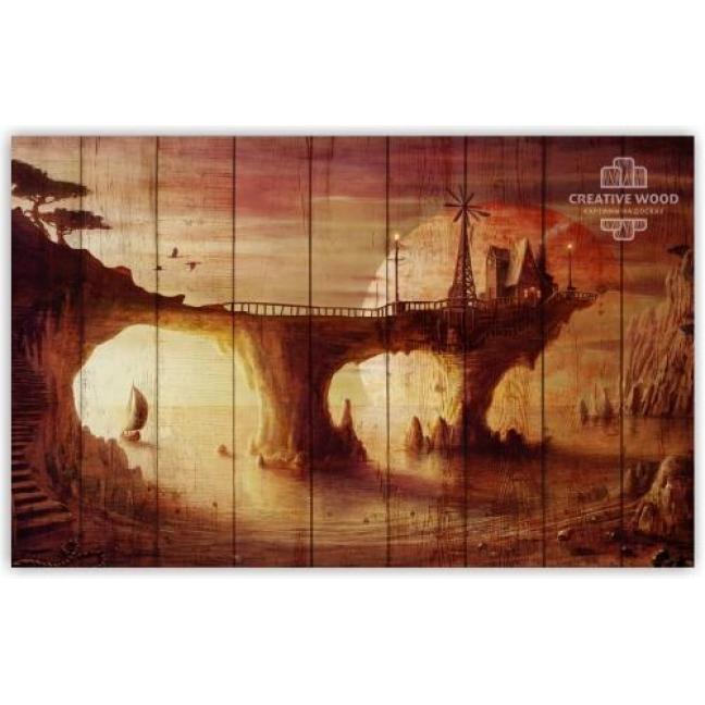 Painting on boards Fantasy - Bridge