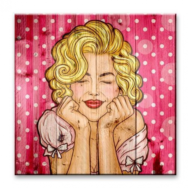 Painting on boards Pop-art  — Pink dreams