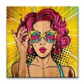 Pop-art  — Девушка в очках
