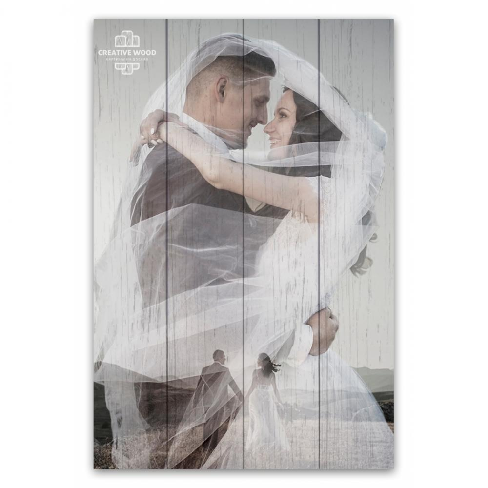 Picture on the boards - double exposure with your photo