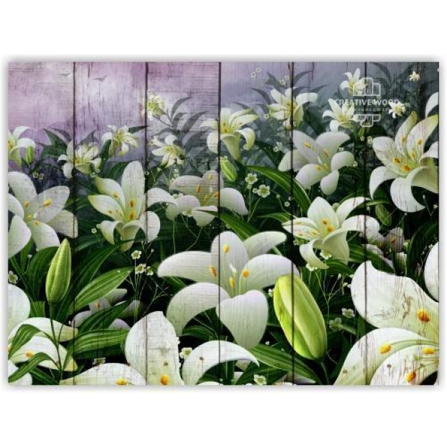 Painting on boards Flowers - Lilies