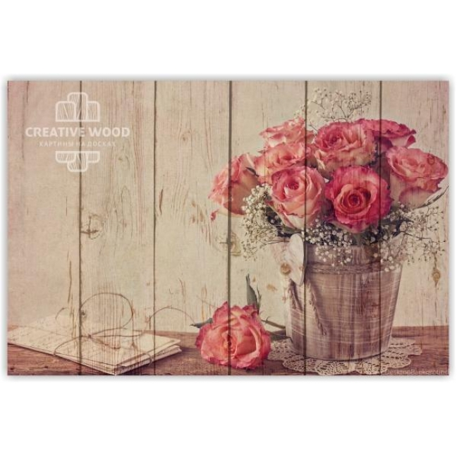 Painting on boards Flowers - Roses