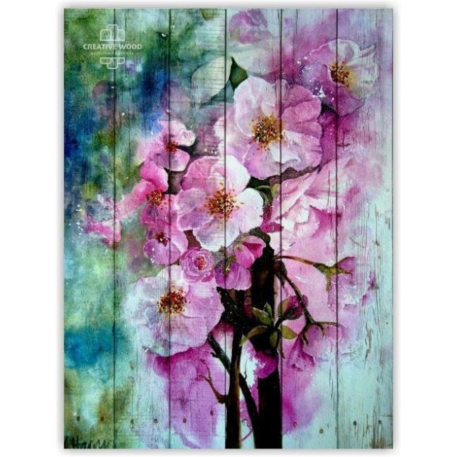 Painting on boards Flowers - Sakura