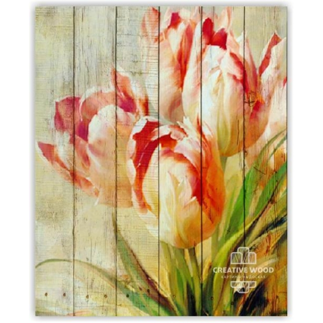 Painting on boards Flowers - Tulips