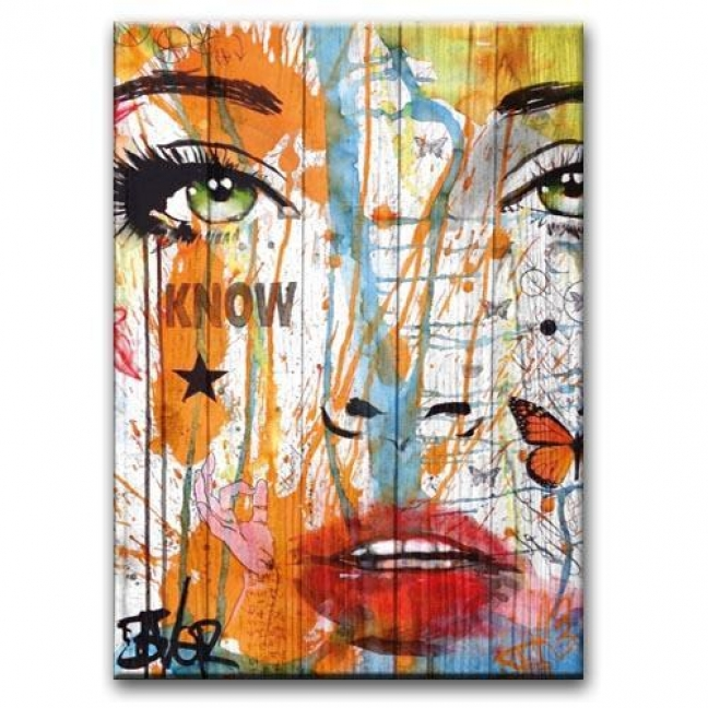 """Painting on boards Pictures on the boards Loft - """"Eyes"""""""