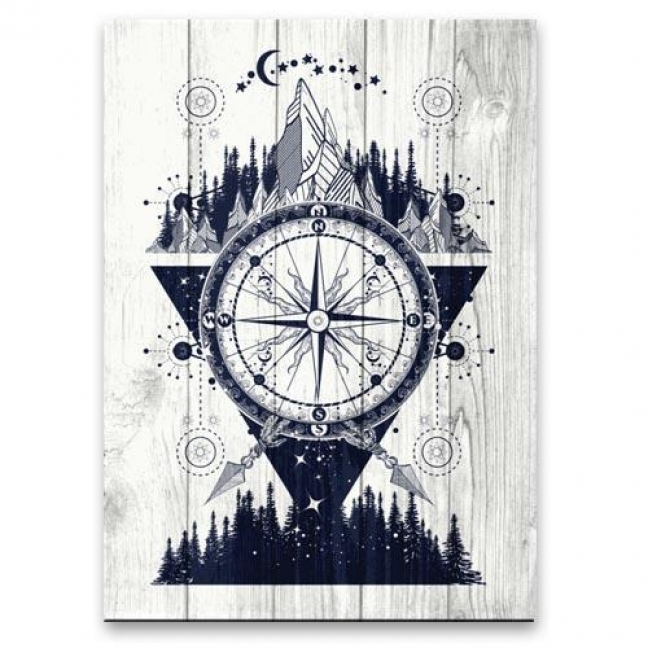 """Painting on boards Pictures on the boards Loft - """"Wind Rose"""""""