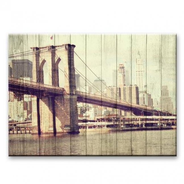 """Painting on boards Pictures on the boards Loft - """"Bridge"""""""