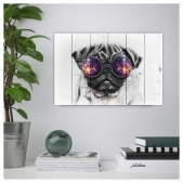 "Picture on the boards LOFT ""Pug with glasses"""