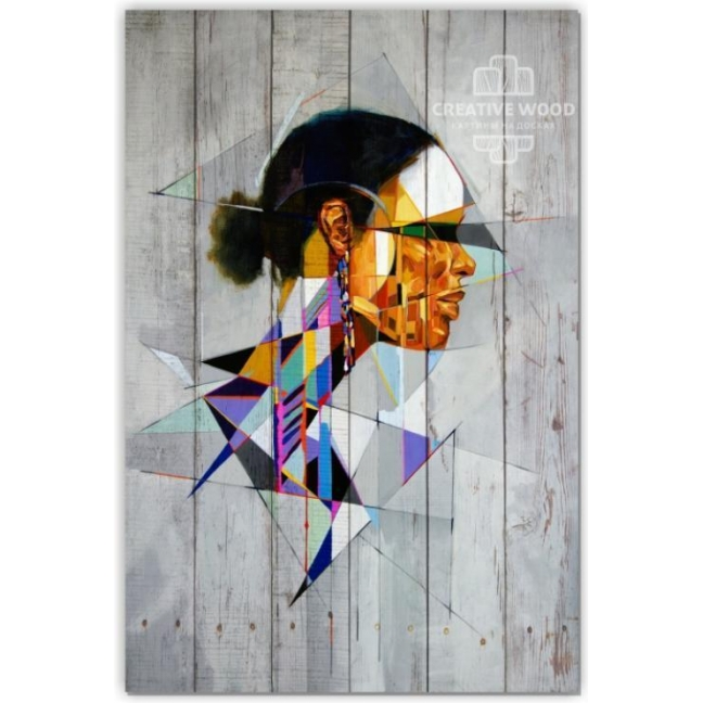 """Painting on boards Picture on the boards LOFT """"Shards"""""""