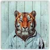 "Picture on the boards LOFT ""Tiger in clothes"""