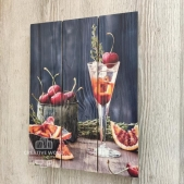 "Picture on the boards for the kitchen ""Fruits"""